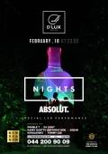 Вечеринка «Absolut Night» в клубе «D'Lux»